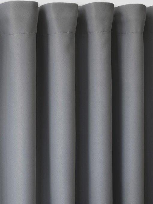 Штора блэкаут Grafit 170х270 темно-серого цвета