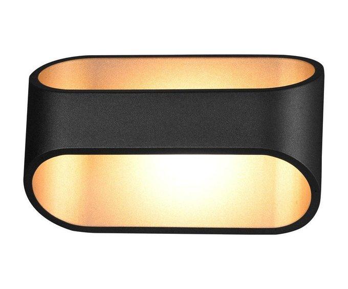 Настенный светодиодный светильник Ось черного цвета
