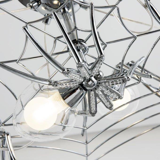 Подвесная люстра из металла и стекла