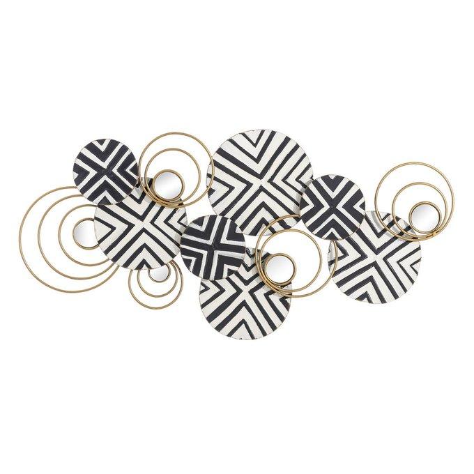 Настенный декор из металла черно-белого цвета