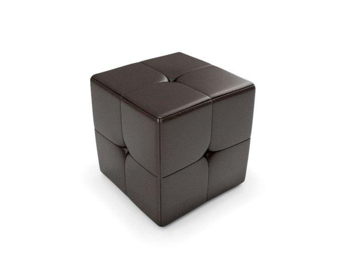 Пуф Kapri 2 темно-коричневого цвета
