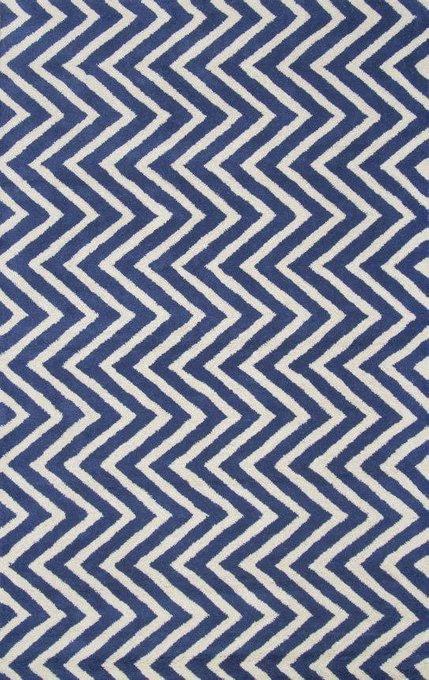 Ковер Vertical Zig-Zag синего цвета 120х180