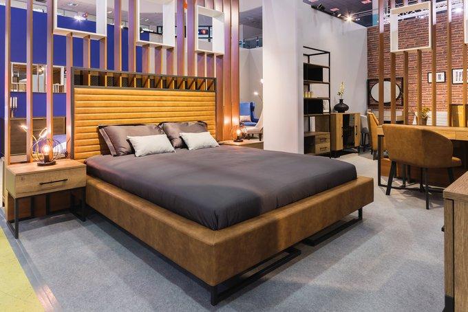 Кровать Loft Грейс Браун с подъемным механизмом и ящиком 140х200