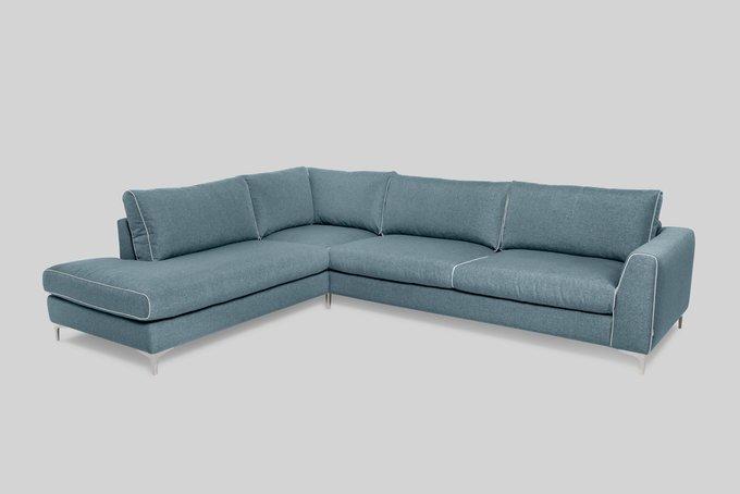 Угловой диван Kiruna со съемными чехлами бирюзового цвета