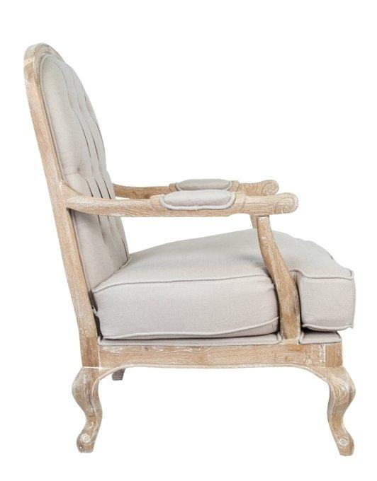 Кресло Honesta beige с пуфом