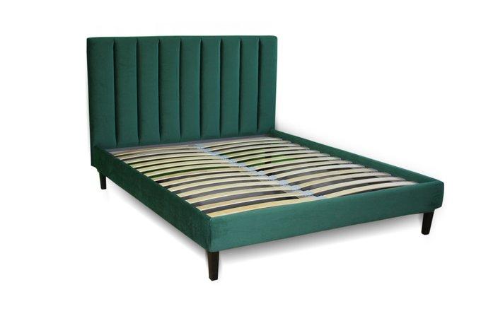 Кровать Клэр зеленого цвета 200х200 с ящиком для хранения