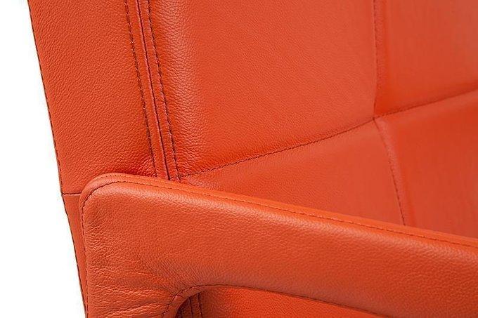 """Кресло """"Aster Chair"""" Оранжевая Кожа"""
