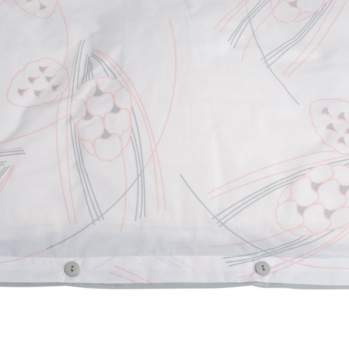 Пододеяльник двухсторонний светло-серого цвета с принтом Хвойное утро 200х200