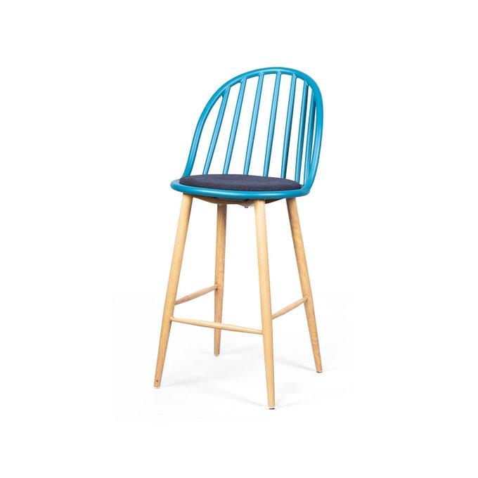 Стул полубарный Windsor Round синего цвета