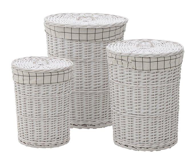 Набор из трех плетенных из лозы корзин