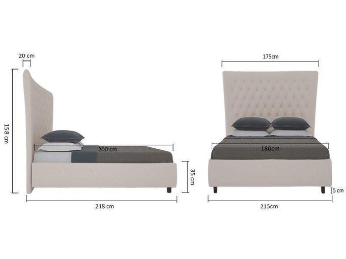 Кровать QuickSand серо-коричневого цвета 180х200