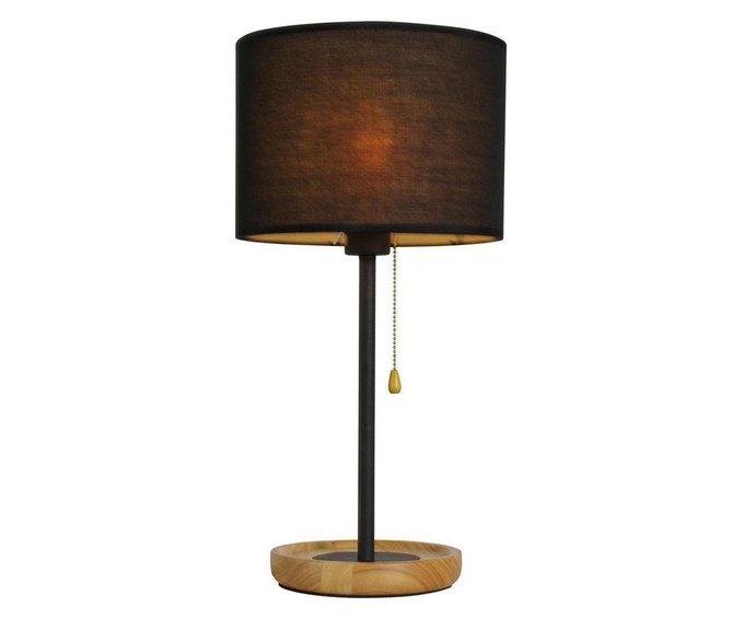 Настольная лампа Касли с чернім абажуром