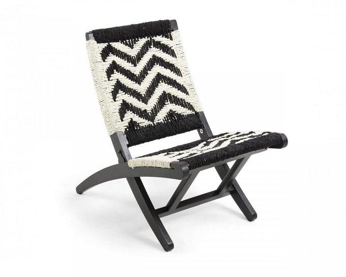 Кресло Heane черно-белого цвета