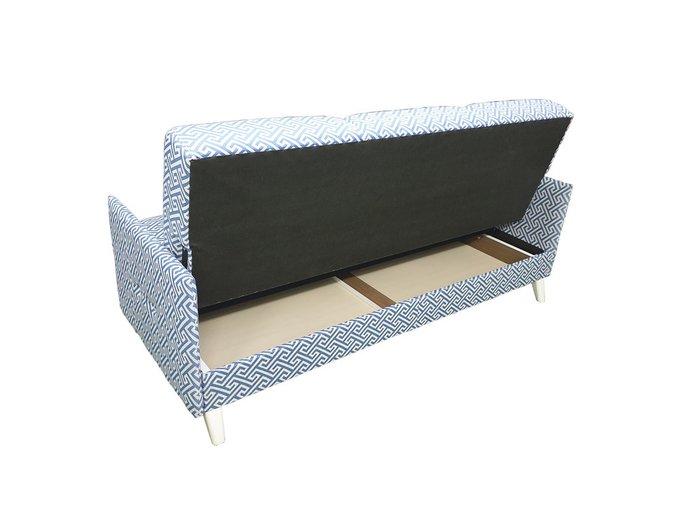 Диван-кровать Scandi сине-белого цвета