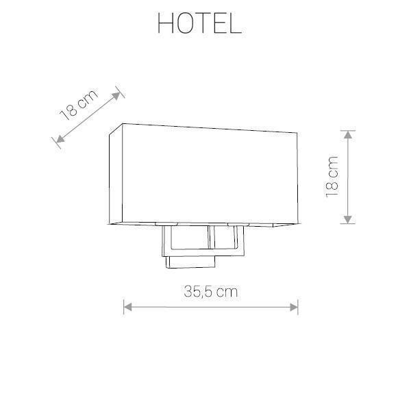 Бра Hotel с серым абажуром