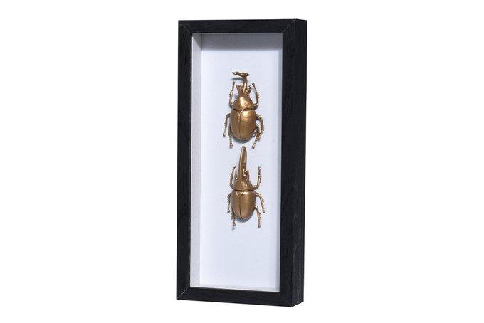 Декор настенный Жуки в раме со стеклом