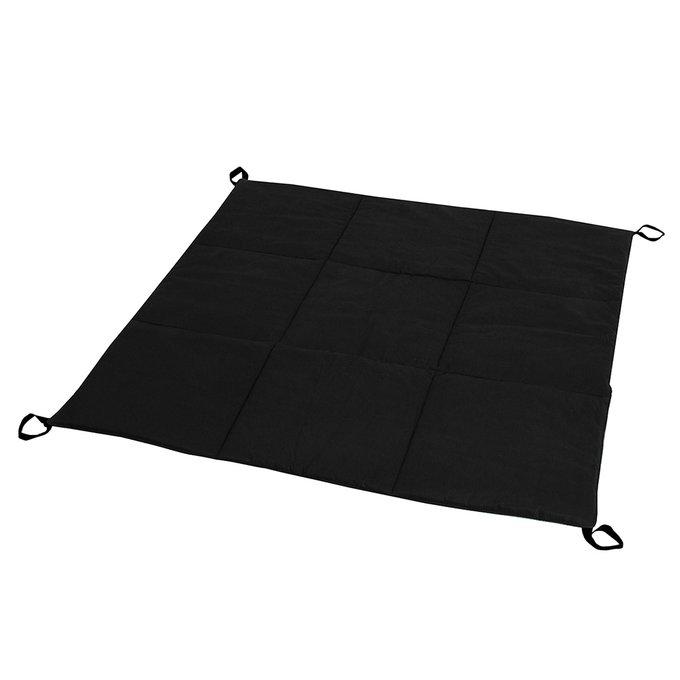 Стеганый игровой коврик Black Hawk черного цвета