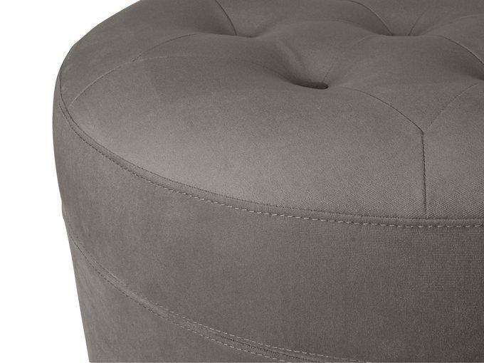 Пуф Barrel большой серого цвета