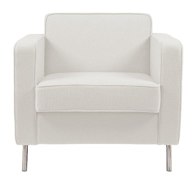 Кресло George с обивкой из шерстяной ткани молочного цвета