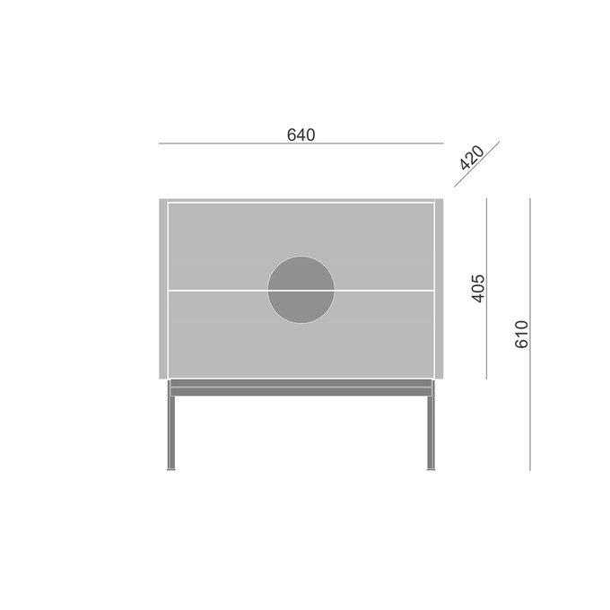 Тумба Alto с ящиками светло-серого цвета