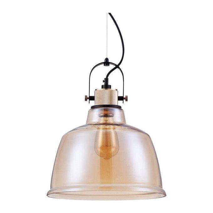Подвесной светильник Irving с плафоном из стекла янтарного цвета