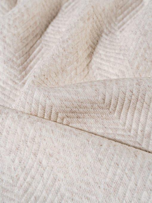 Трикотажное покрывало Pisa linen 180х230 бежевого цвета