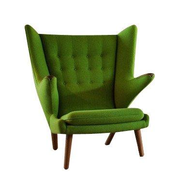 Кресло Papa Bear зеленого цвета