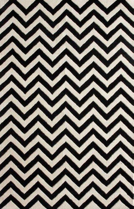 Ковер Horizontal Zig-Zag черно-белого цвета 120х180