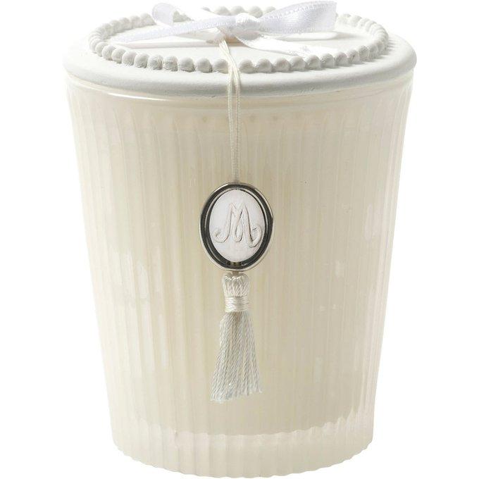 Арома-свеча большая аромат цветок хлопка из воска