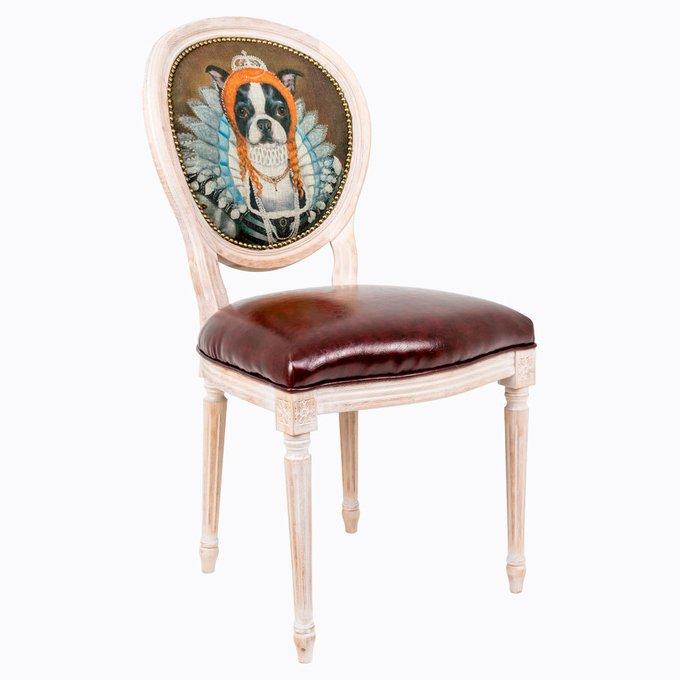 Стул Музейный экспонат версия 32 Елизавета I с сидением из экокожи