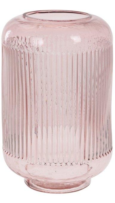 Стеклянная ваза розового цвета