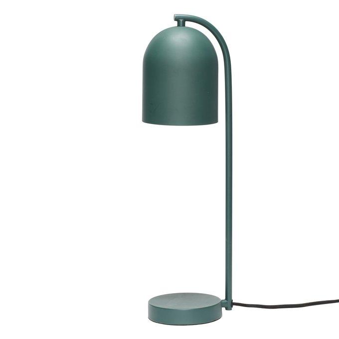 Настольная лампа зеленого цвета