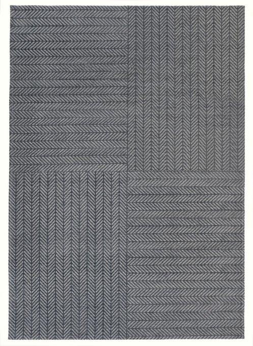 Ковер Quatro серого цвета 160х230