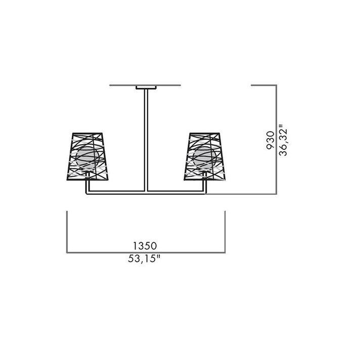 Подвесной светильник Lamp International Basket с плафоном из белого поликарбоната