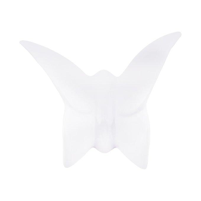 Настенный декор бабочка Mahaon 3 белого цвета