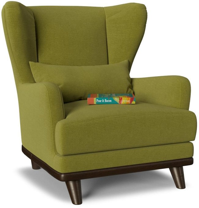 Кресло Роберт Людвиг дизайн 5 зеленого цвета