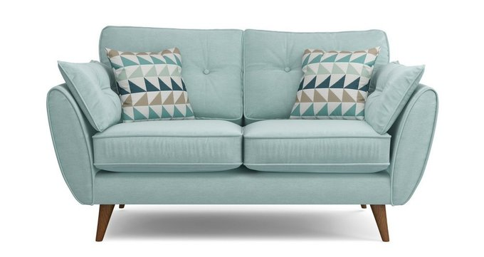 Прямой двухместный диван Элдон мятный