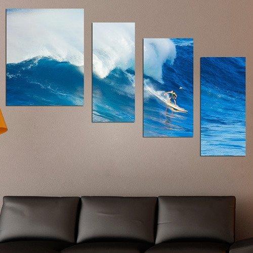 Дизайнерская модульная картина: На гребне волны