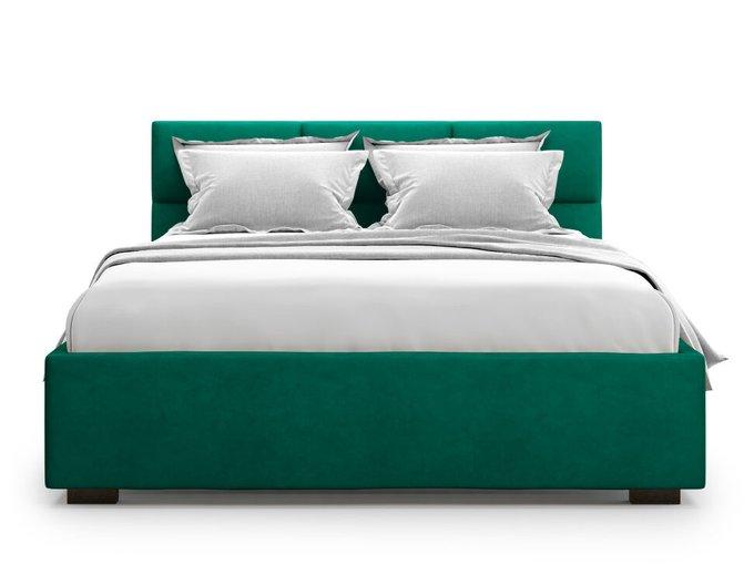 Кровать Bolsena 160х200 зеленого цвета с подъемным механизмом