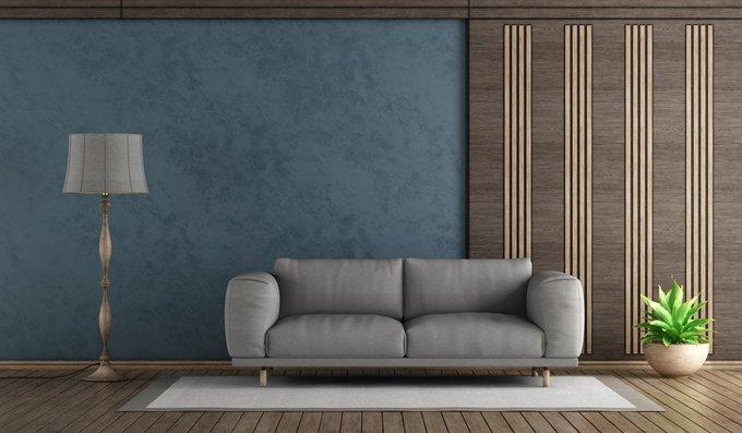 Трехместный диван Malmo серого цвета