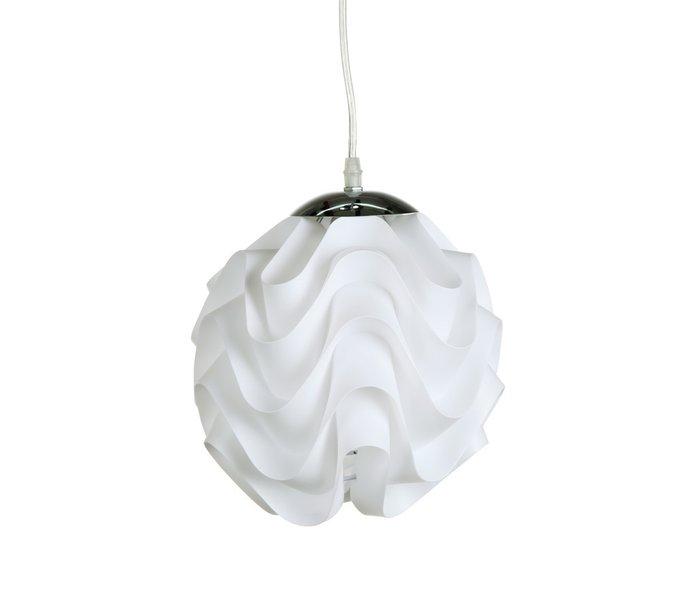 Подвесной светильник Ozzy с гофрированным тканевым абажуром