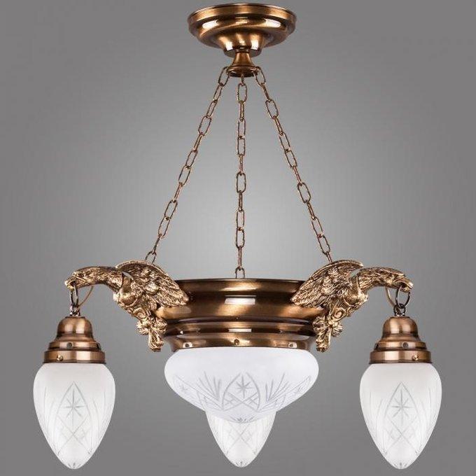 Подвесная люстра Ouro с плафонами из белого стекла