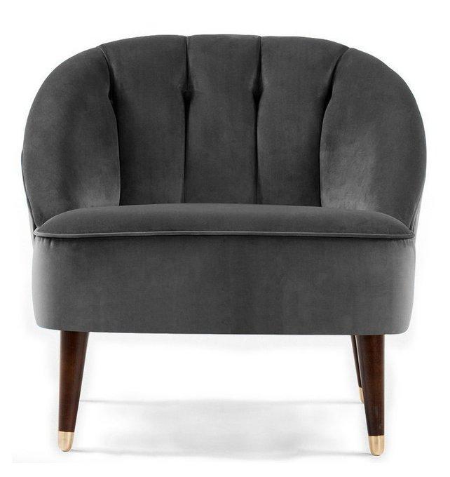 Кресло Clouds с обивкой из серой ткани