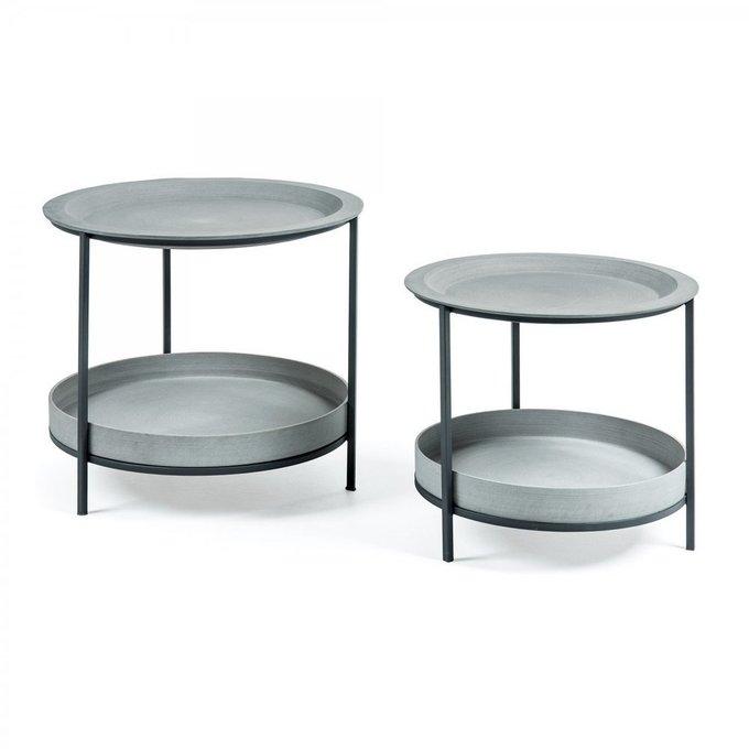 Набор из двух кофейных столов Sleet серого цвета