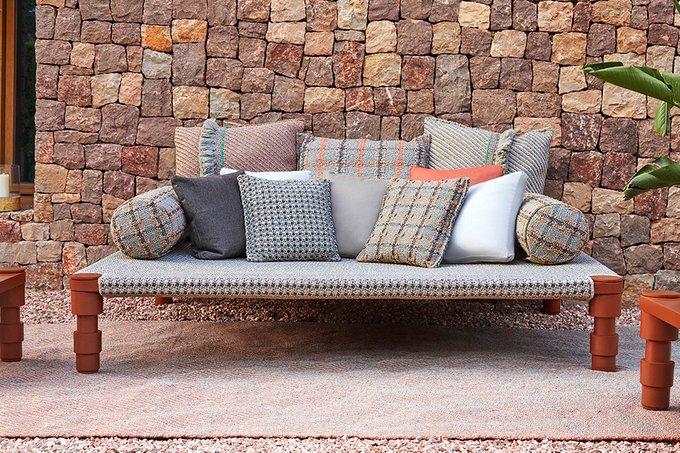 Индийская кровать одинарная Gofre terracotta 90х200