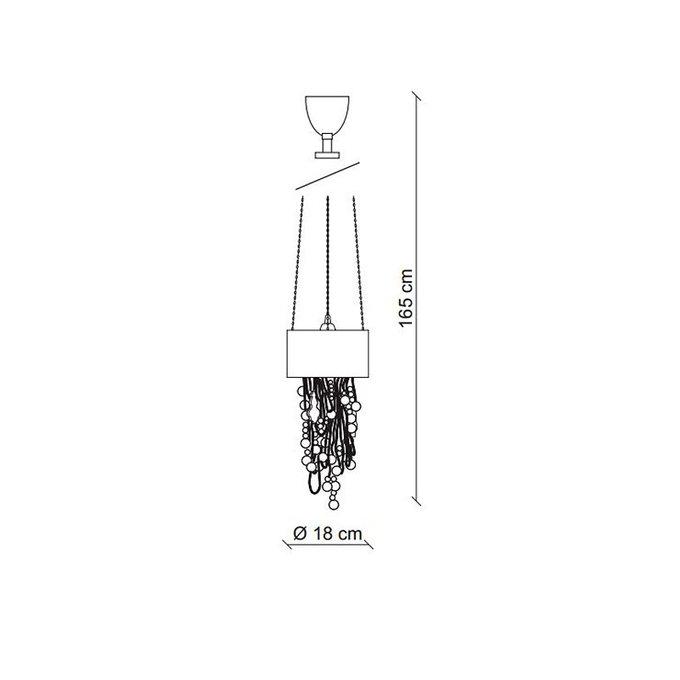 Подвесной светильник BAGA с абажуром из гофрированного тюля