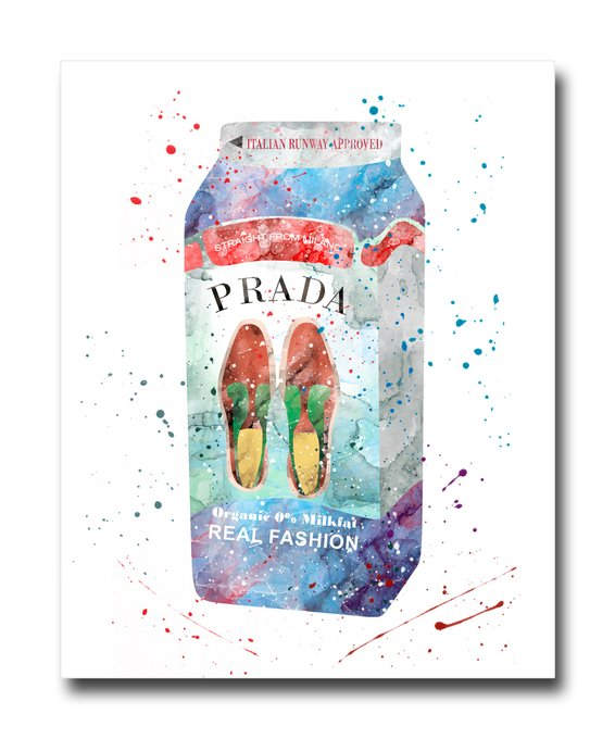 "Постер ""Prada Milk"""
