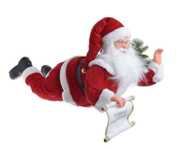 Новогоднее украшение Санта Клаус с подсветкой красного цвета