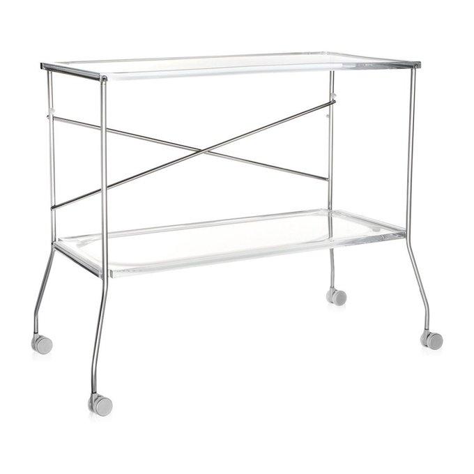 Сервировочный столик Flip из пластика и стали