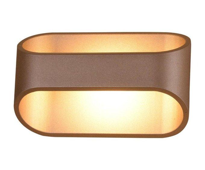Настенный светодиодный светильник Ось золотого цвета